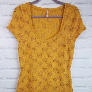 Free People Dresses - Free People Daisy Godet Dress Golden Yellow Lace